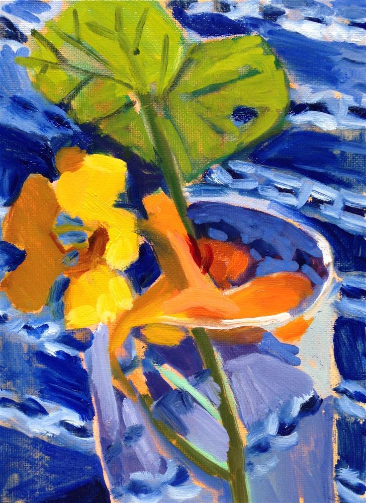 """""""Two Flowers"""" original fine art by Pamela Hoffmeister"""