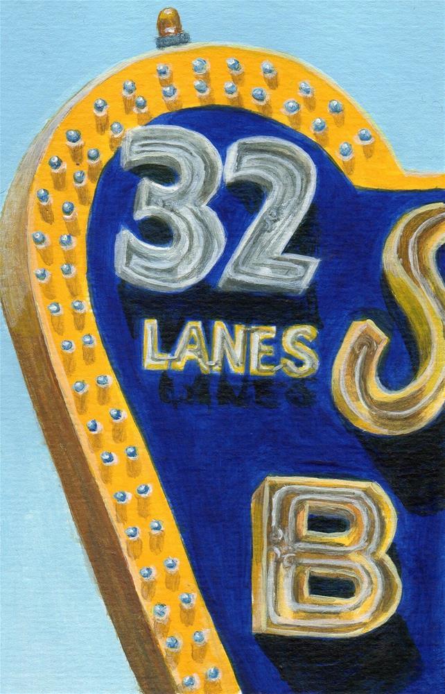 """32 Lanes"" original fine art by Debbie Shirley"