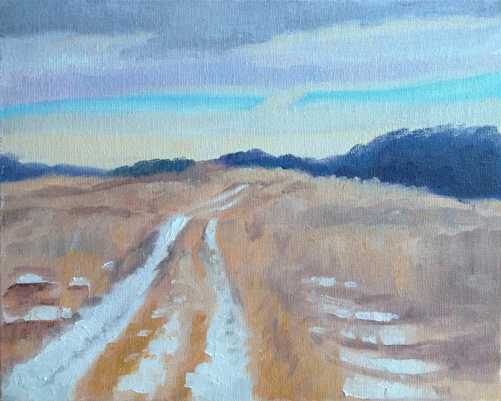"""Frost's Road"" original fine art by Eric Larson"