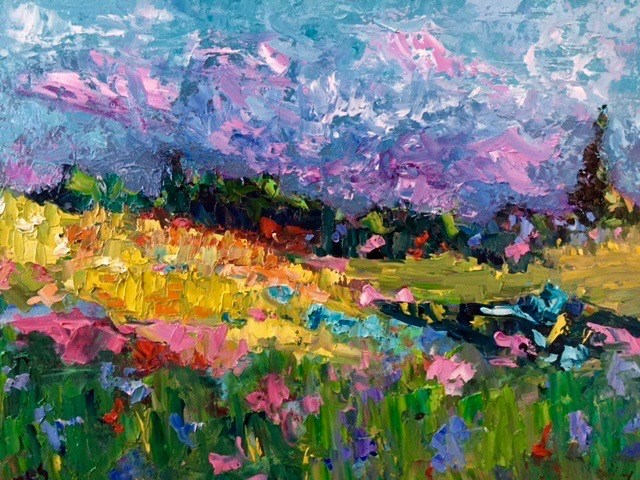"""Rocky Mountain Meadow"" original fine art by Liz Zornes"