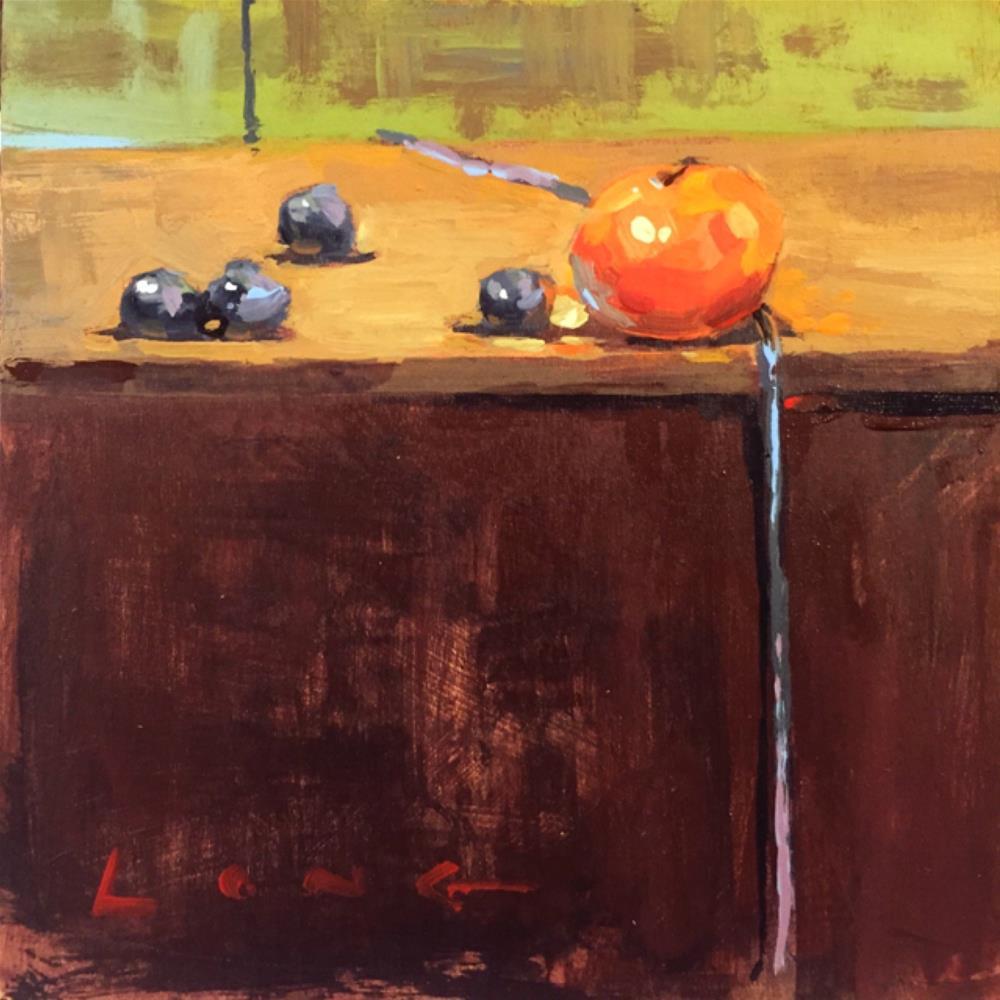 """Cutie and Berries"" original fine art by Chris Long"