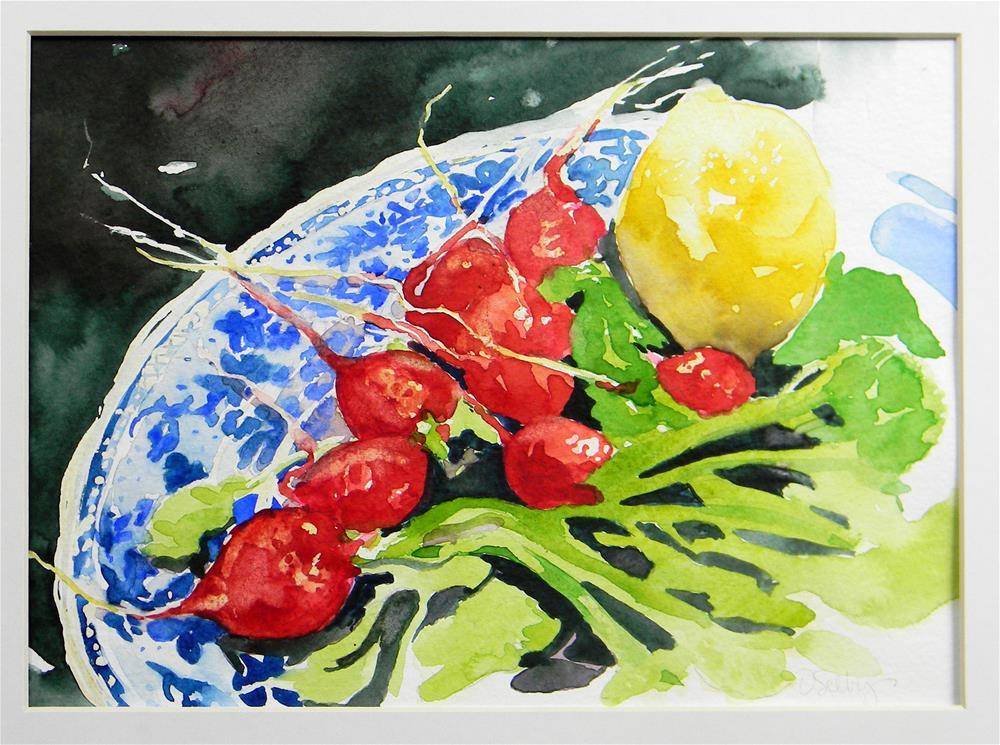 """Lemon Radishes"" original fine art by De Selby"