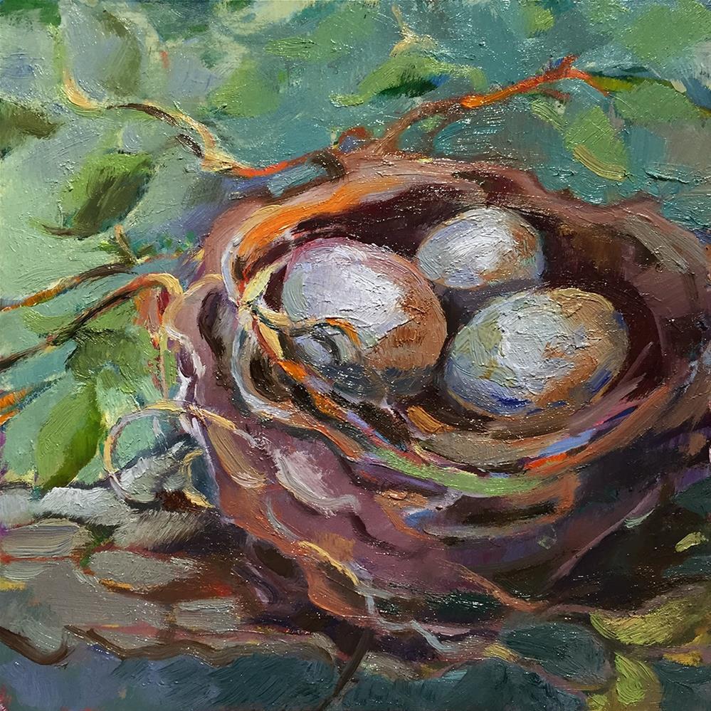"""""""Nested Trio"""" original fine art by Laura Gable"""