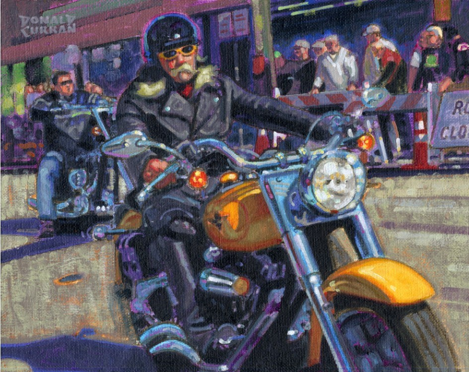 """Bad Boy"" original fine art by Donald Curran"