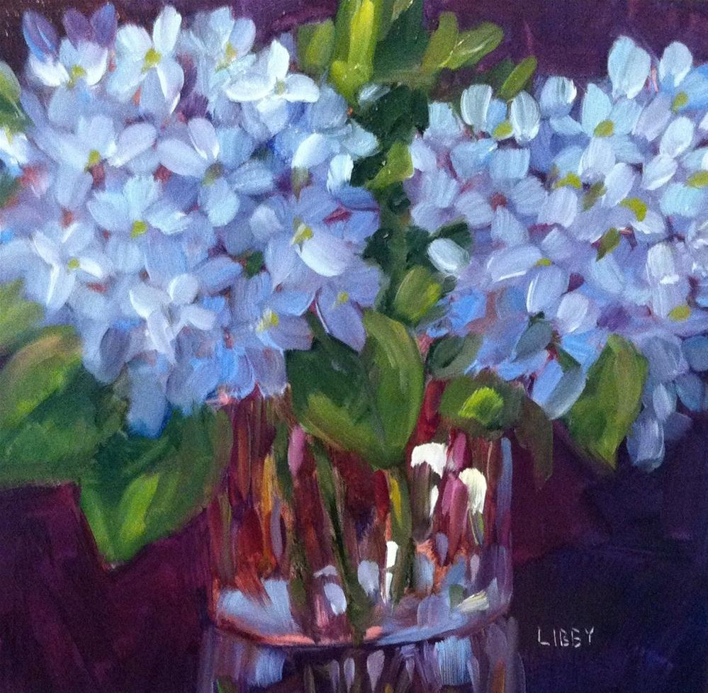 """Hydrangea Blooms"" original fine art by Libby Anderson"