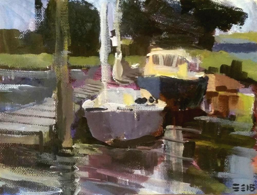 """Milford Marina"" original fine art by Liz Maynes"