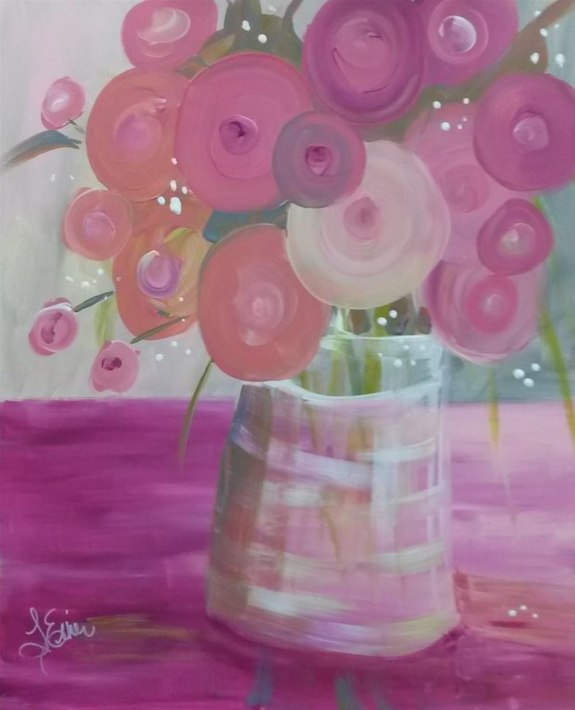 """Pretty in Pink"" original fine art by Terri Einer"