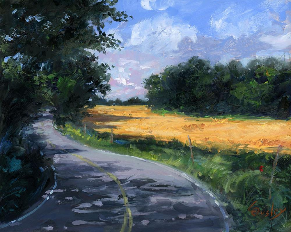 """The Golden Way"" original fine art by Chris Ousley"