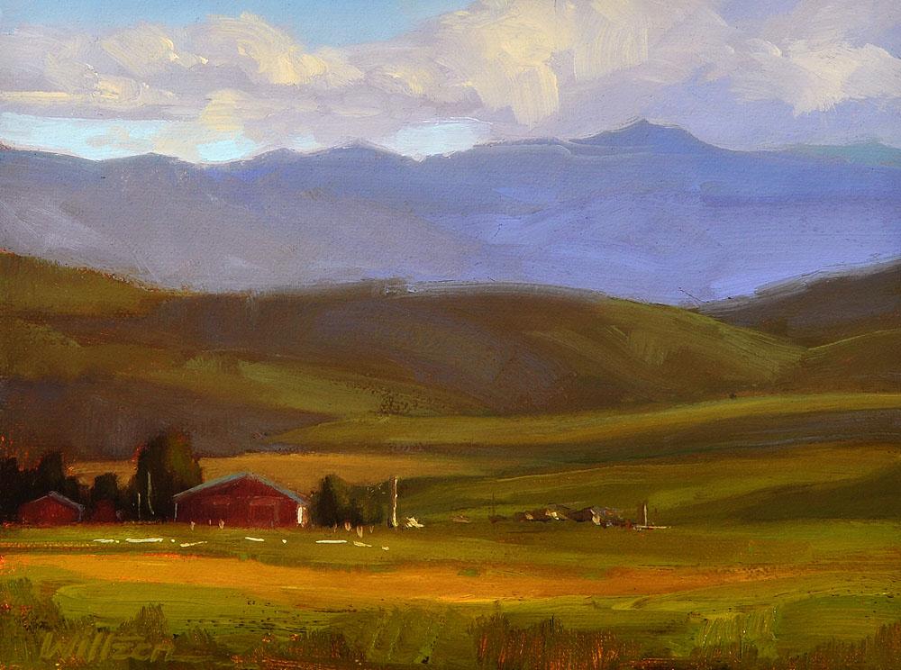 """Foothills Sunset"" original fine art by Liz Wiltzen"