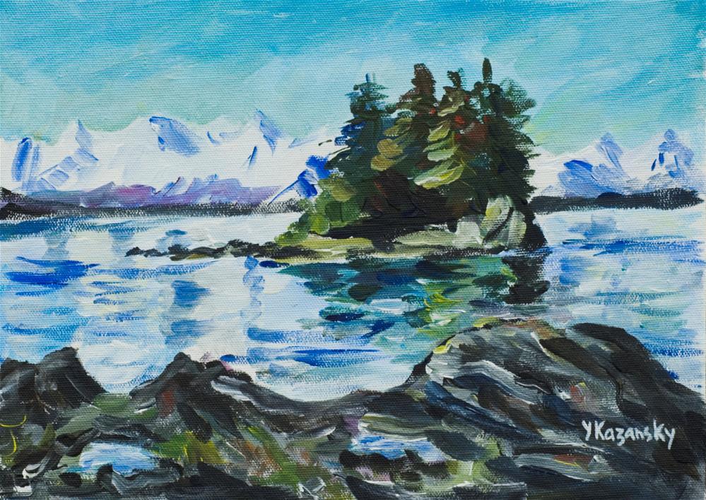 """View from Douglas Island, Juneau, Alaska"" original fine art by Yulia Kazansky"
