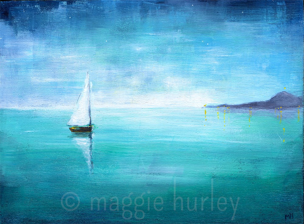 """We'll Float"" original fine art by maggie hurley"