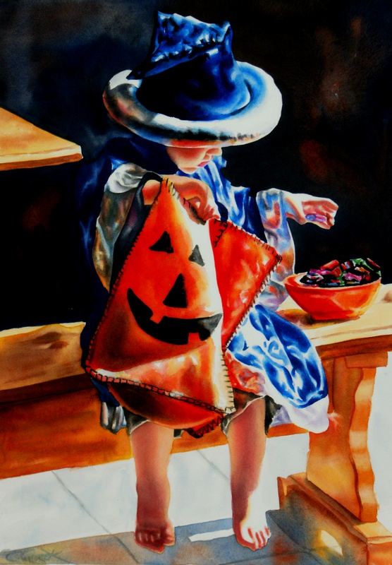 """Young Wizard in Training"" original fine art by Crystal  Cook"