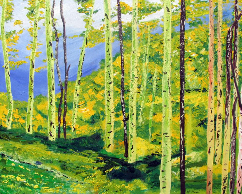"""Summer Aspens, Maroon Bells"" original fine art by Will Dargie"