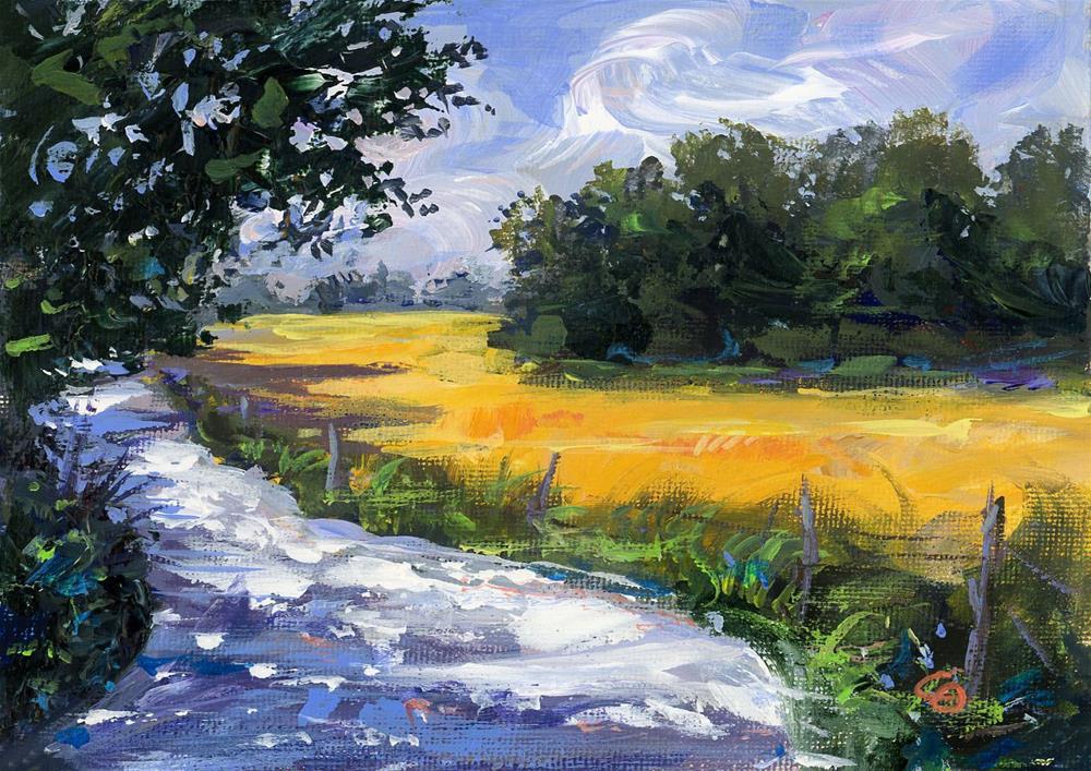 """""""Golden Way"""" original fine art by Chris Ousley"""