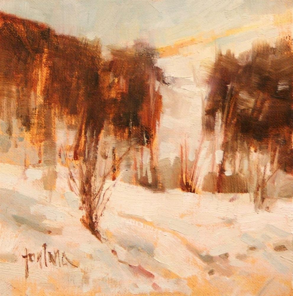 """Winter Sunset"" original fine art by Francesco Fontana"