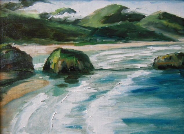 """View from Ecola State Park"" original fine art by Mary McInnis"