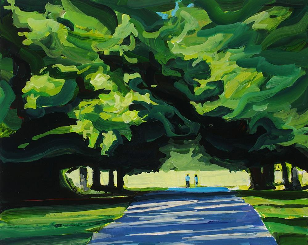 """Sunday Walk"" original fine art by Chris  Breier"