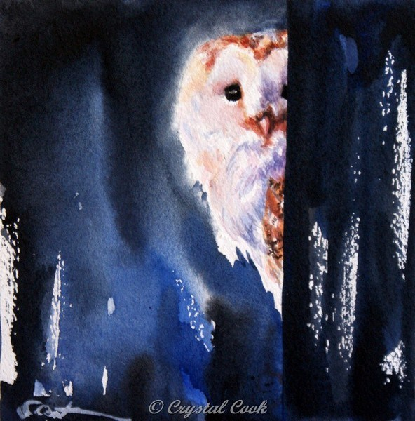 """Sentinel"" original fine art by Crystal Cook"