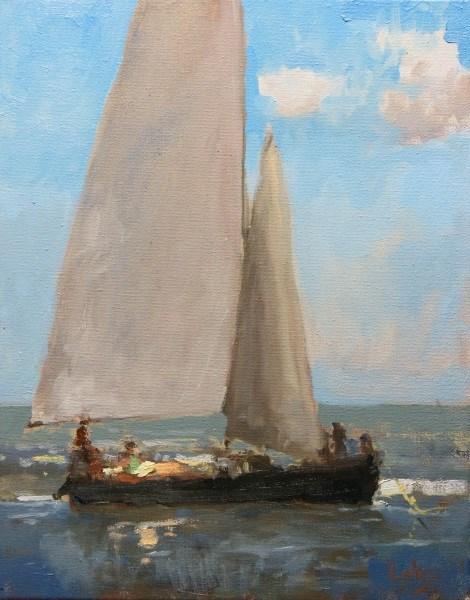 """Cargo"" original fine art by Randall Cogburn"