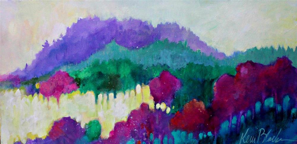 """Morning Mountain Sun "" original fine art by Kerri Blackman"