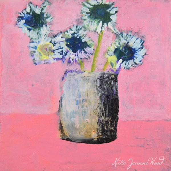 """Flower Series No 34"" original fine art by Katie Jeanne Wood"