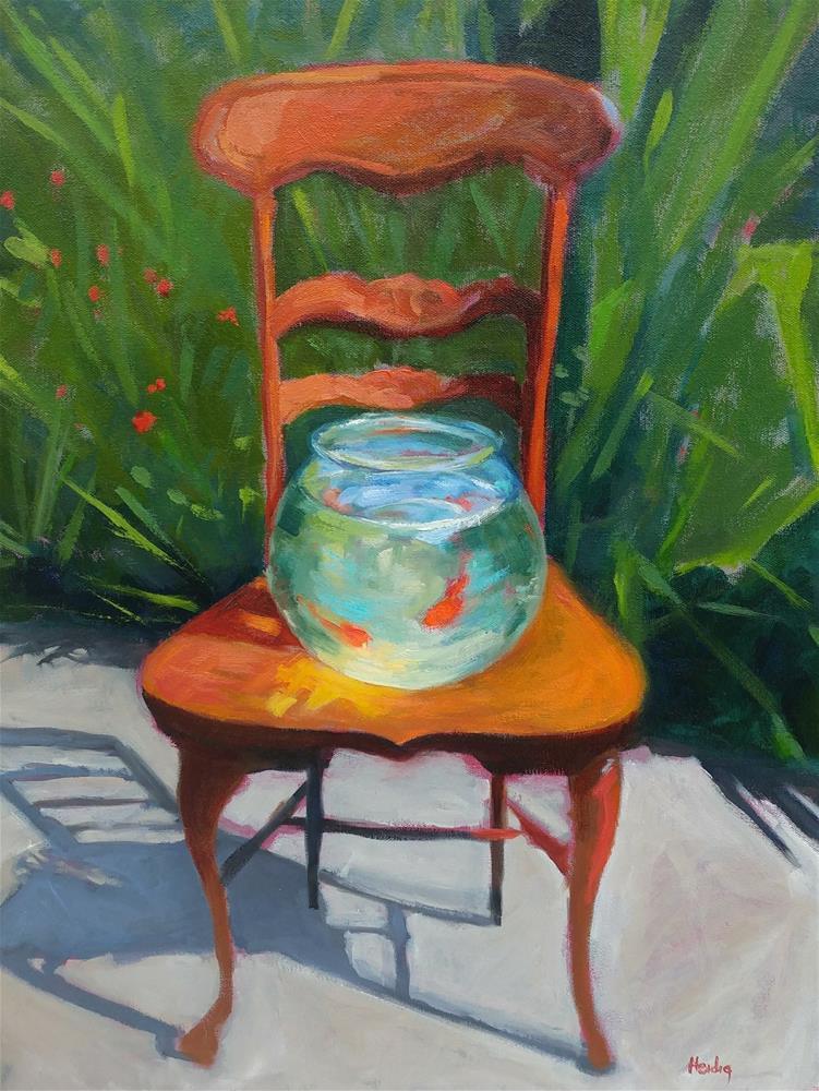 """Gone Fishing"" original fine art by Theresa Heidig Rooney"