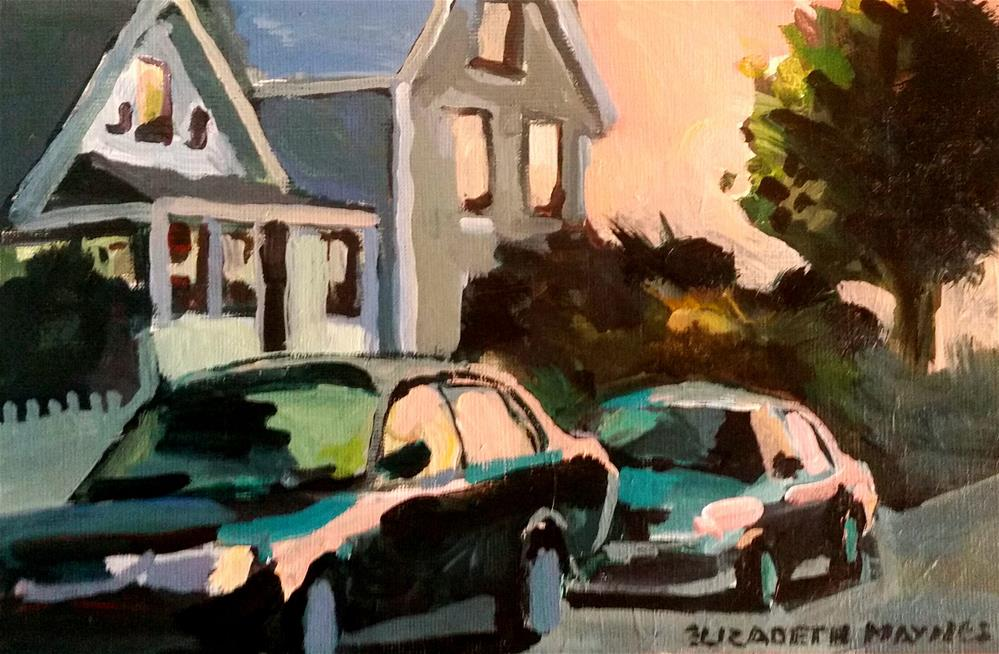 """Sleepy Morning: Connecticut"" original fine art by Liz Maynes"