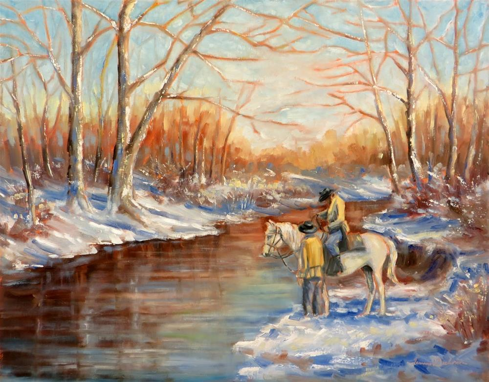 """Standing at Kill Creek"" original fine art by Tammie Dickerson"