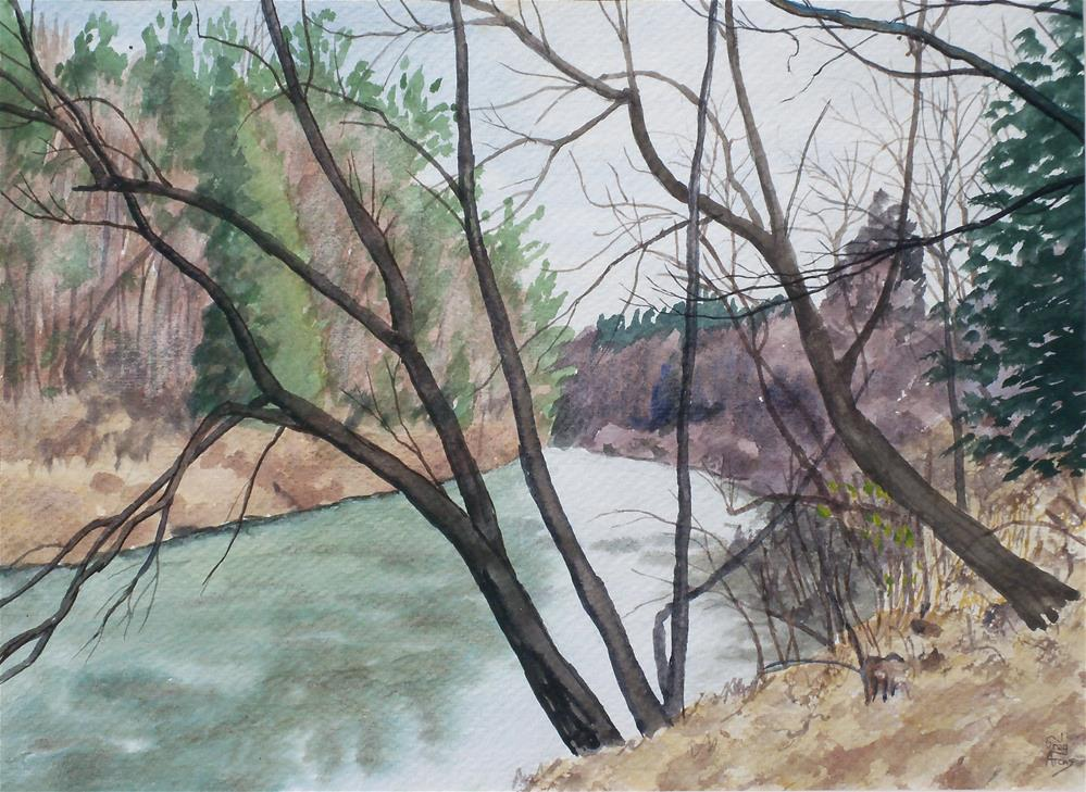 """Daddy's Creek I"" original fine art by Greg Arens"