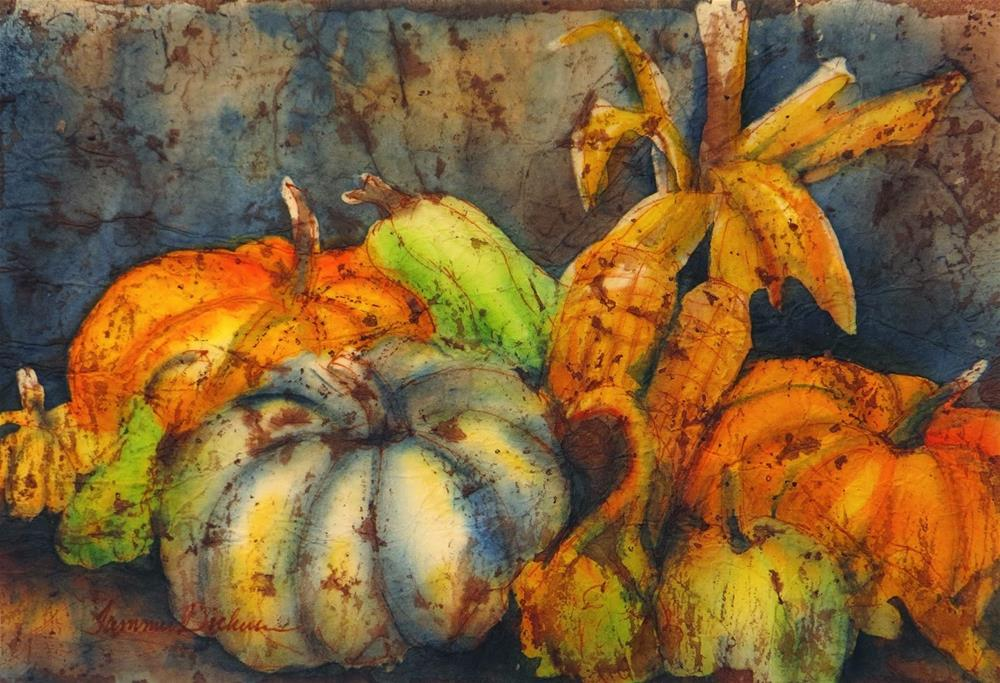 """Autumn's Bounty"" original fine art by Tammie Dickerson"