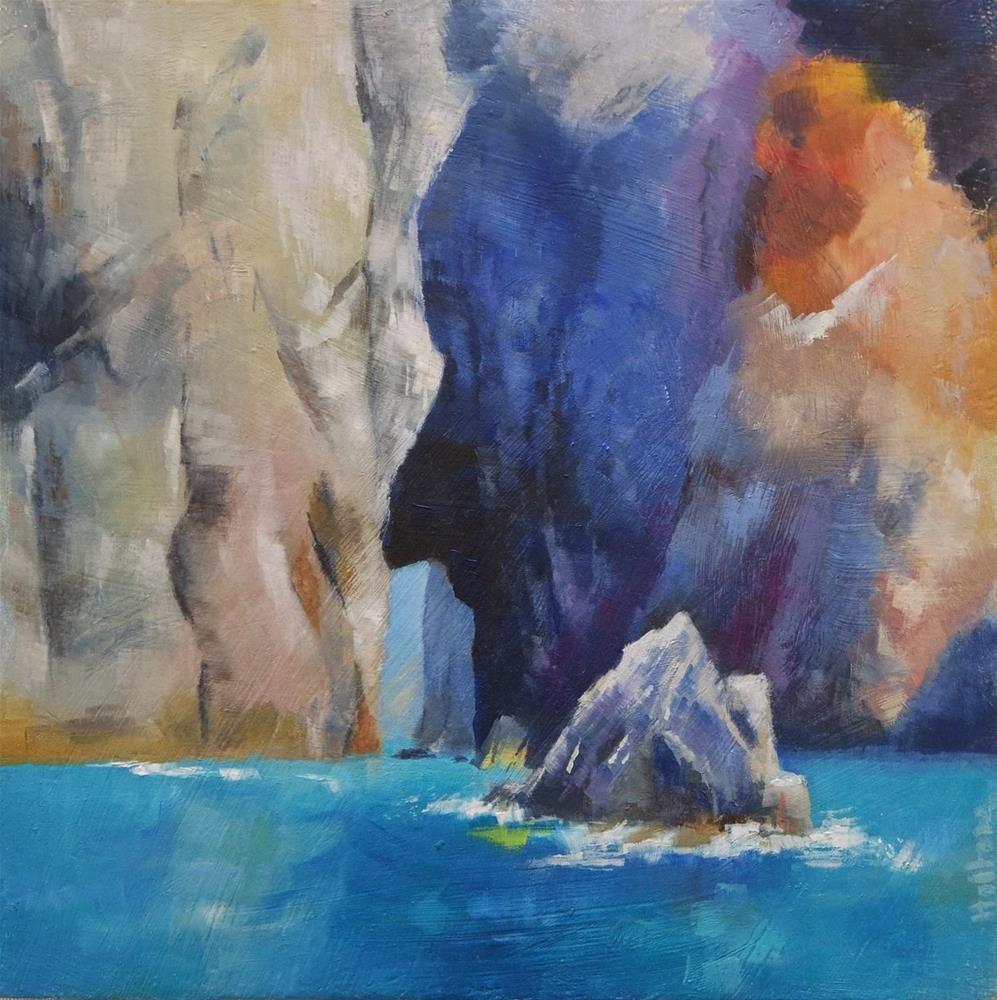 """Lipari Coast"" original fine art by Cathy Holtom"