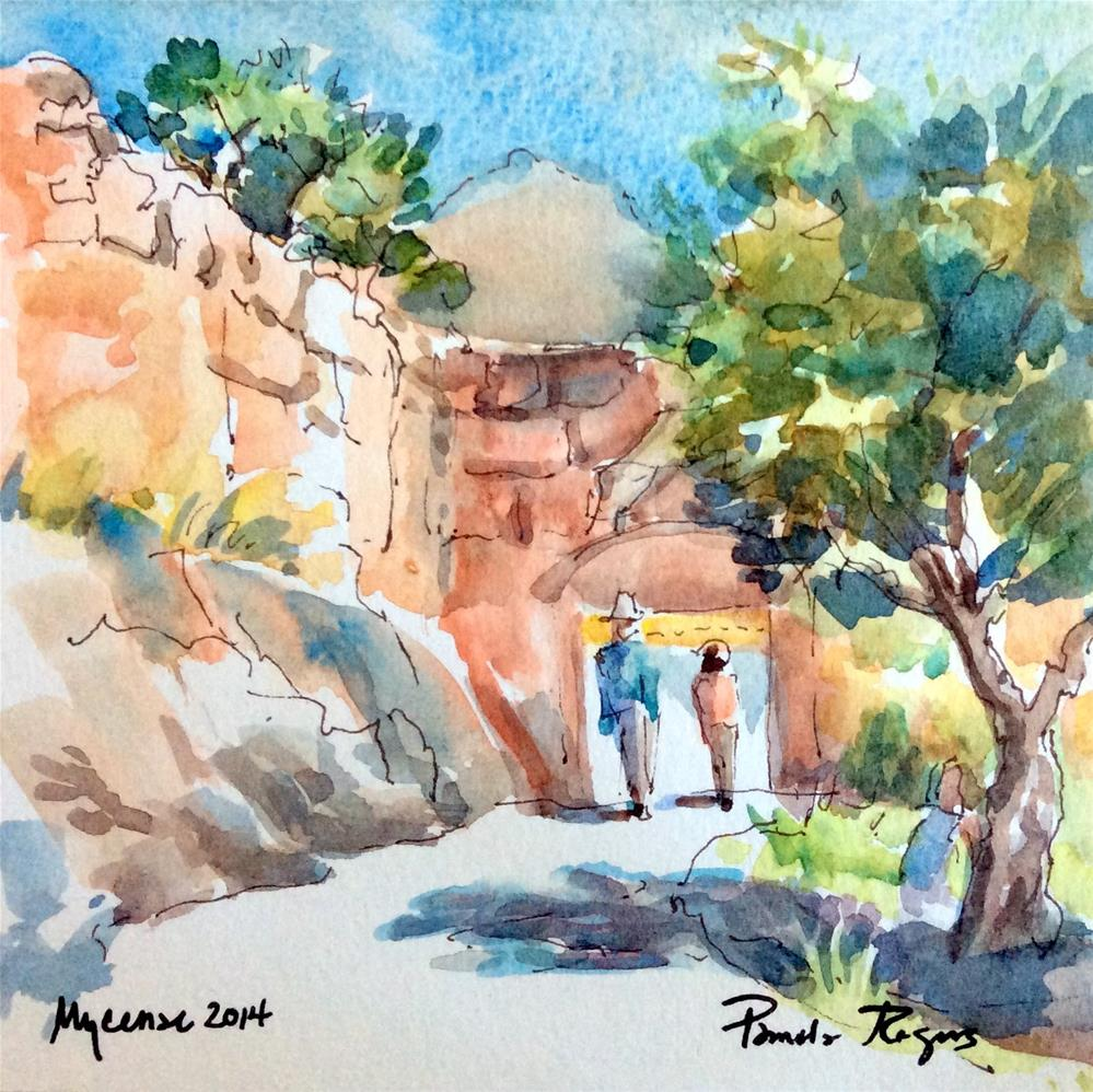"""Entering the Mycenean Gate"" original fine art by Pamela Jane Rogers"