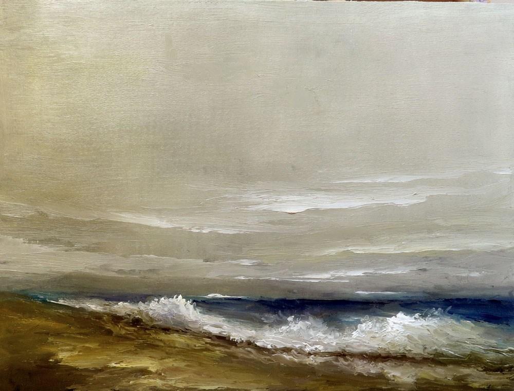"""Mastic Beach"" original fine art by Bob Kimball"