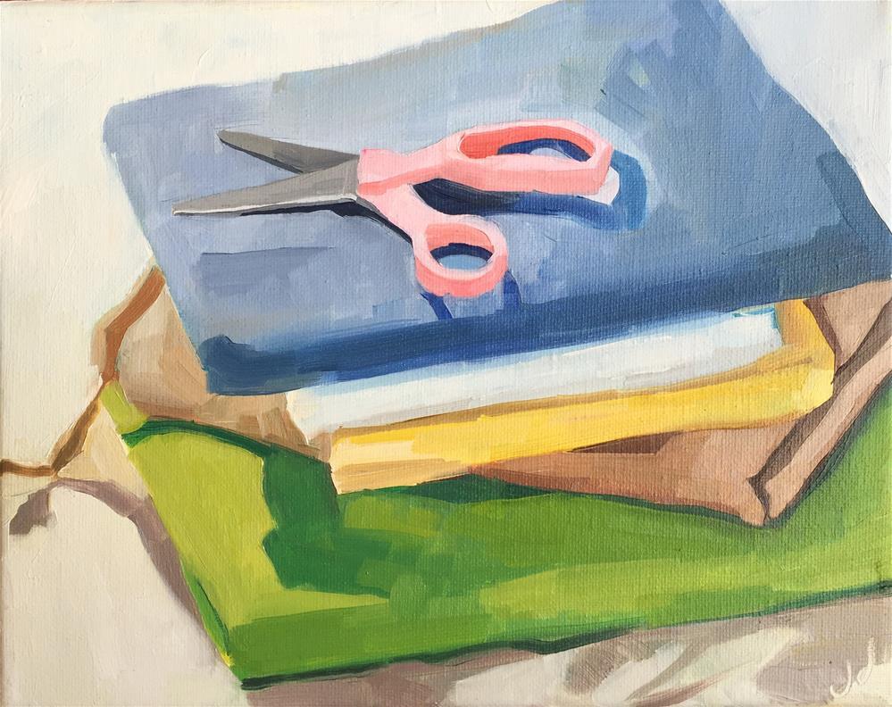 """Scissors in a Still Life"" original fine art by Jessie Dodington"