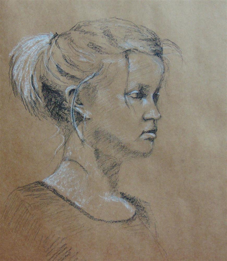 """Monday Sketch #5"" original fine art by Catherine Kauffman"