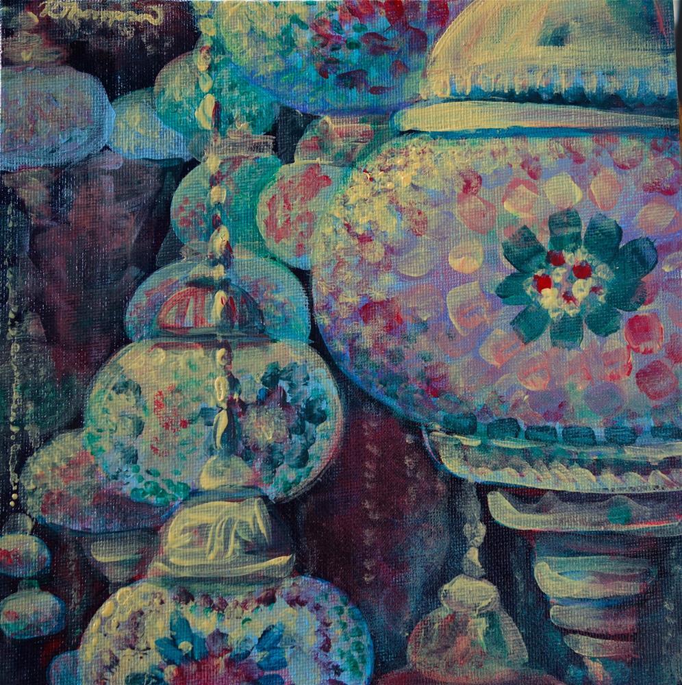 """Lamps"" original fine art by Rachel Thompson"