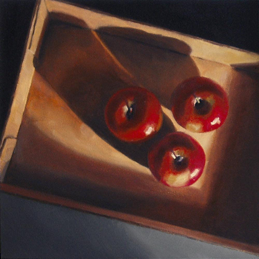 """Apples in Box II"" original fine art by Nance Danforth"