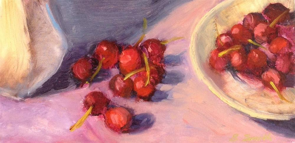 """Cherry Love"" original fine art by Barbie Smith"