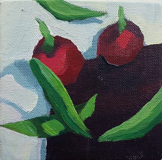 """Radishes on Guard"" original fine art by J M Needham"