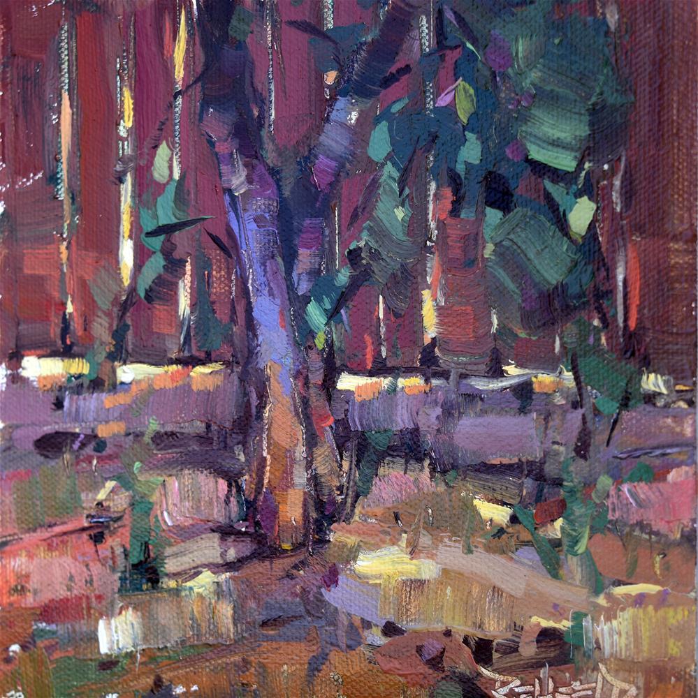 """Tree Shadows"" original fine art by Cathleen Rehfeld"
