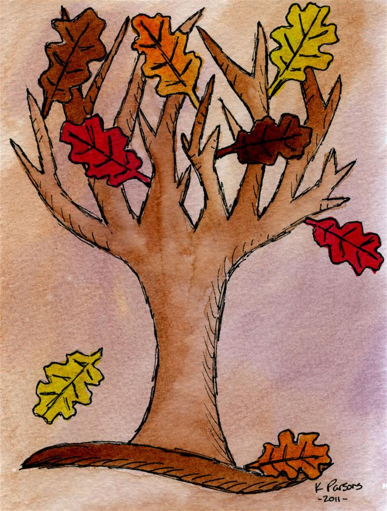 """Fall Tree"" original fine art by Kali Parsons"