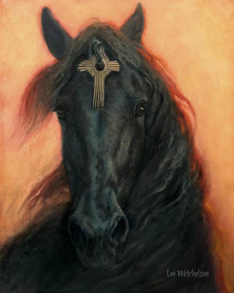 """The Stallion, Dominic"" original fine art by Lee Mitchelson"