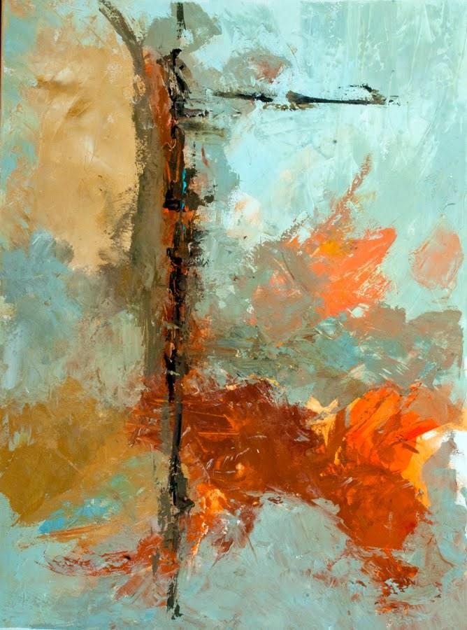 """""""KMA2734 Soaring Dreams (30x40 abstract acrylic)"""" original fine art by Kit Hevron Mahoney"""