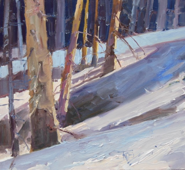 """Snoqualmie Ski Run Snoqualmie Pass, plein air painting by Robin Weiss"" original fine art by Robin Weiss"