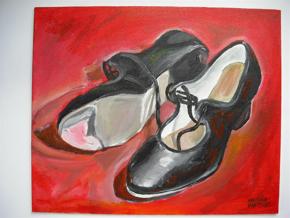 """Tap Dancing Shoes"" original fine art by Heather Whiting"