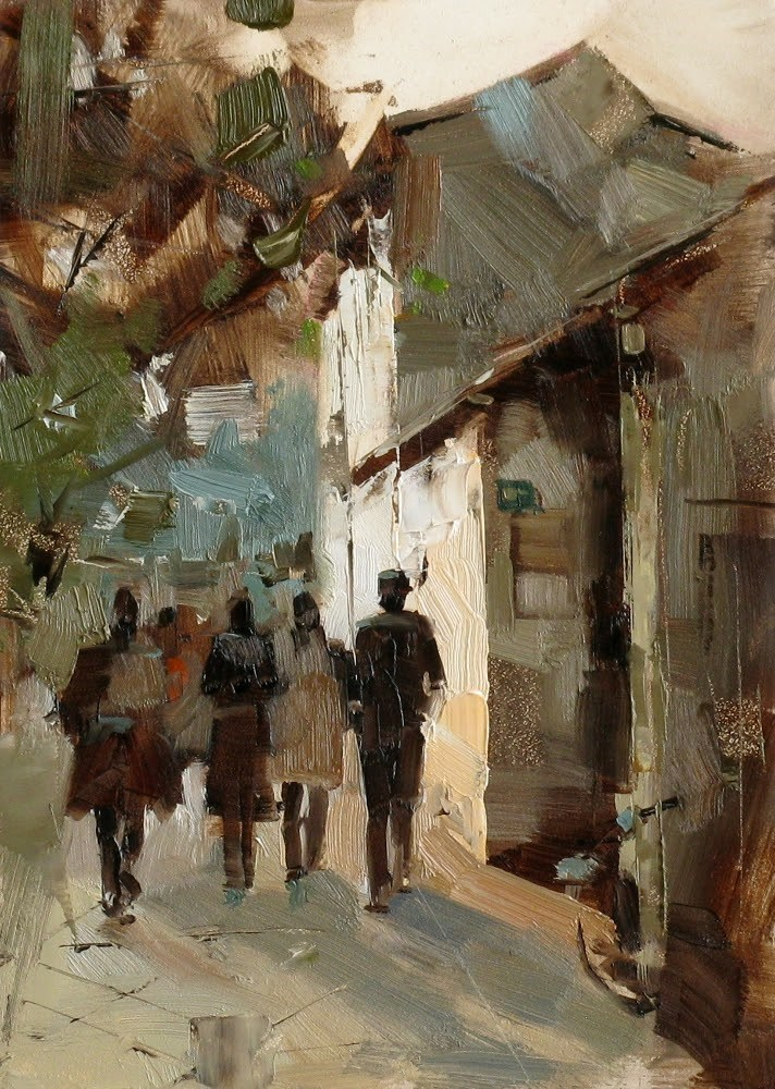 """Afternoon Light"" original fine art by Qiang Huang"