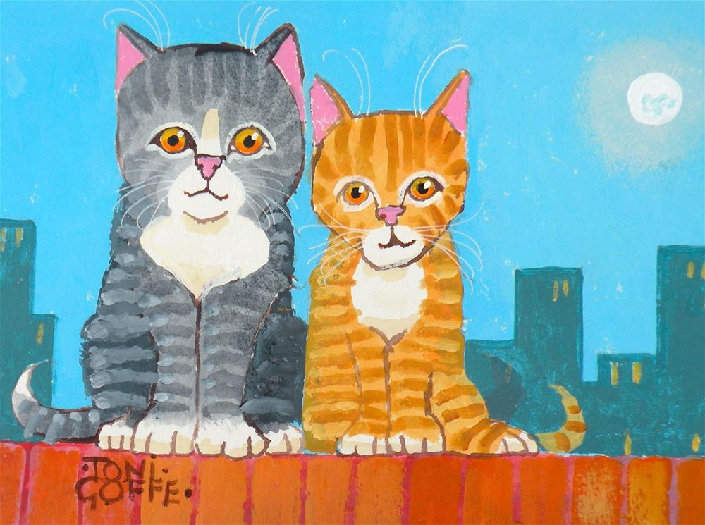 """Two on the Razzle"" original fine art by Toni Goffe"