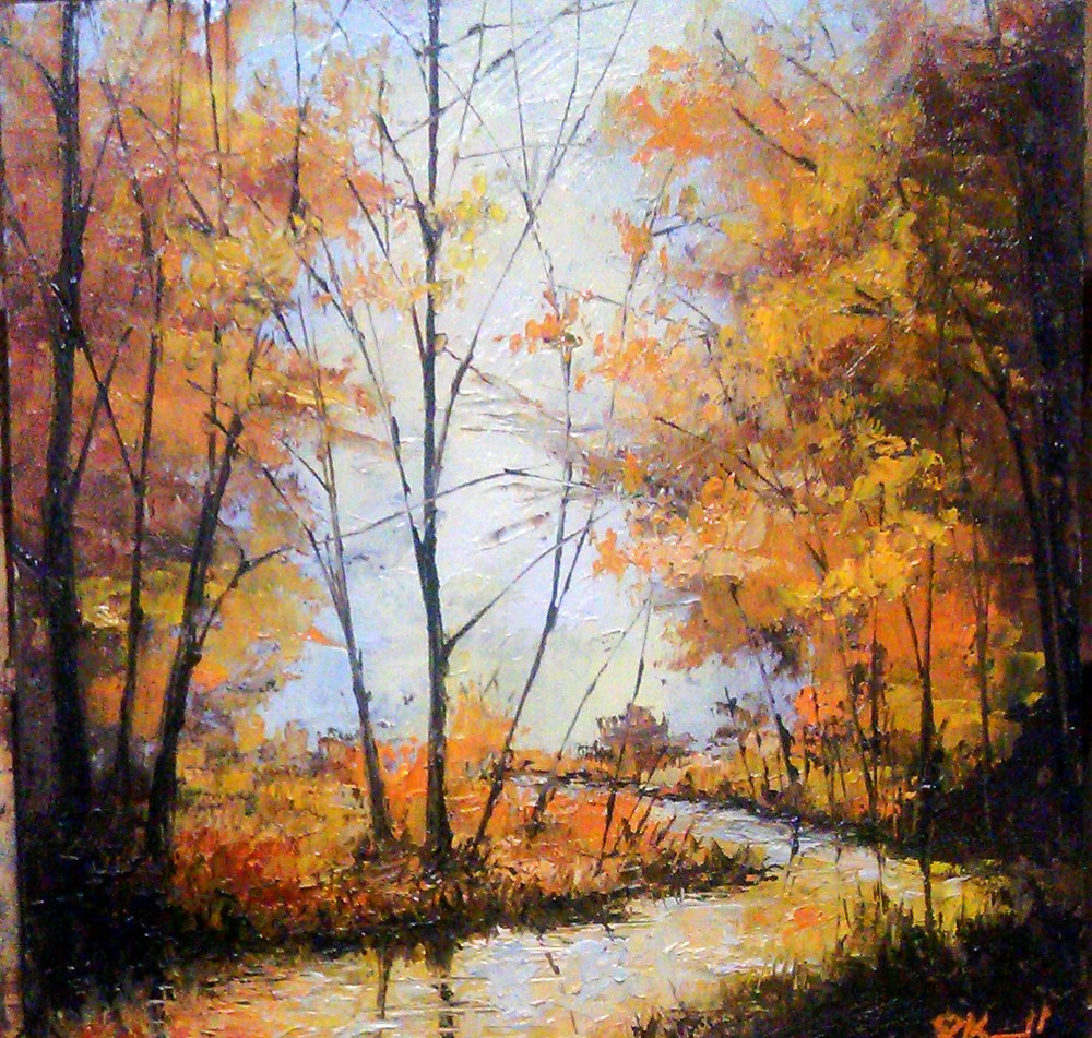 """Virgin River in the Woods"" original fine art by Bob Kimball"
