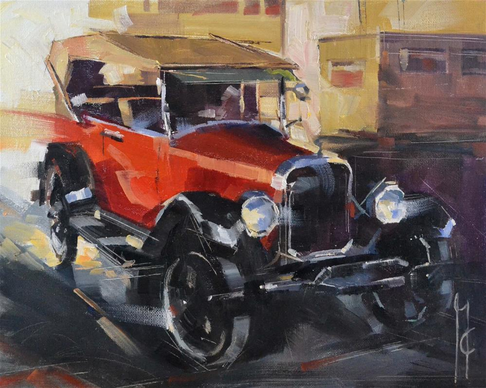 """""""Red 20's"""" original fine art by Garry Colby"""