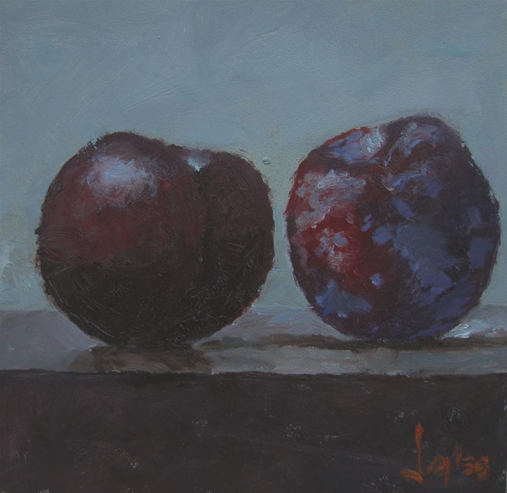 """Red Plums"" original fine art by Richard Jones"
